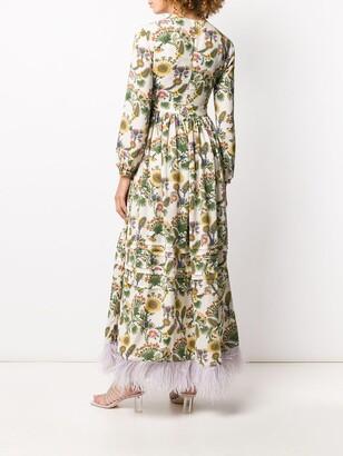 La DoubleJ Pemberley feathered hem dress
