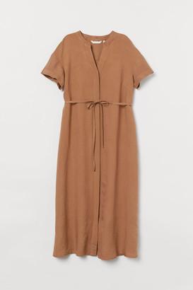 H&M MAMA Linen-blend dress