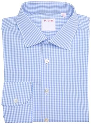 Thomas Pink Core Gingham Check Classic Fit Dress Shirt