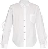 Toga Ruffle-trimmed cotton-poplin shirt