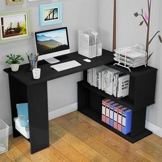 Latitude Run Frens Reversible L-Shape Executive Desk Color: Black