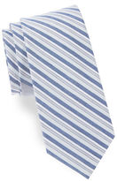 Cole Haan Striped Silk and Linen Tie