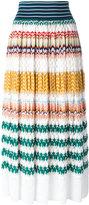 Missoni knitted zigzag skirt - women - Silk/Cotton/Polyester/Rayon - 40