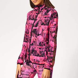 Superdry Sport Women's Active Lightweight Jacket - Splice City Print - UK 6 - Pink