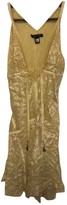 Roberto Cavalli Yellow Silk Dress for Women