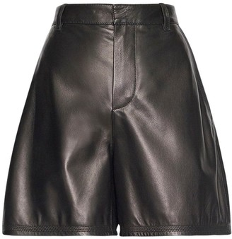 DSQUARED2 Roxy Heart Leather Shorts