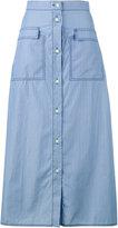 Maryam Nassir Zadeh striped button-up skirt - women - Cotton - 6