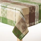 Celebrate Local Life Together Plaid Pine Cone Tablecloth