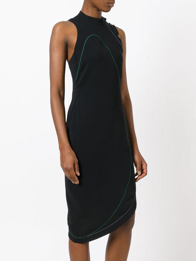 Versace sleeveless asymmetric dress