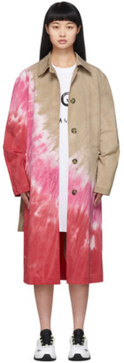 MSGM Multicolor Tie-Dye Trench Coat