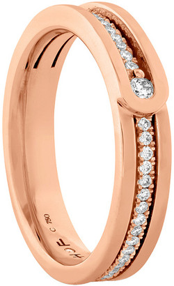 Hearts On Fire 18K Rose Gold 0.20 Ct. Tw. Diamond Coupled Encompass Line Ring