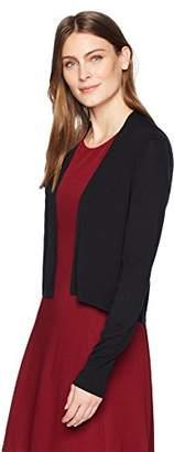 Lark & Ro Women's Lightweight Long Sleeve Cropped Cardigan Sweater