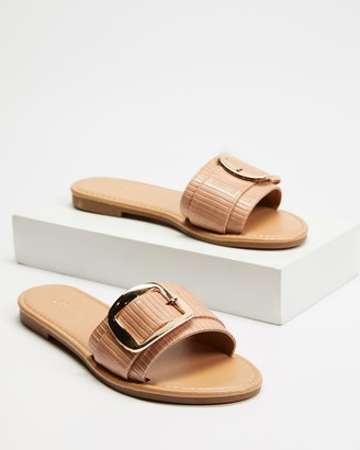 Freelance Shoes - Women's Nude Flat Sandals - Kyoto - Size One Size, 39 at The Iconic
