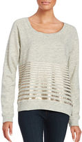 Splendid Striped Cotton Sweatshirt