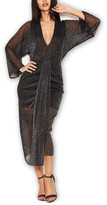 AX Paris Women's Cocktail Dresses Black - Black Glitter Dolman Dress - Women
