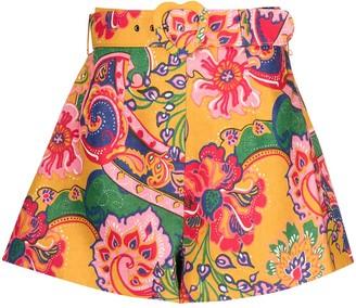 Zimmermann The Lovestruck paisley-print shorts