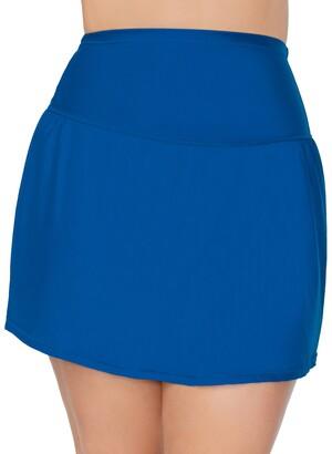 Raisins Curve Trendy Plus Size Solids Bravo Swim Skirt Women's Swimsuit