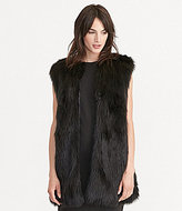 Lauren Ralph Lauren Collarless Straight Hem Faux-Fur Vest