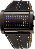 01 The One 01TheOne Men's Ibiza Ride Wide Rectangle Leather Watch #IRH202RB1