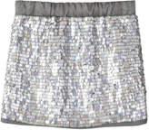 Joe Fresh Kid Girls' Sequin Skirt, Smoke (Size XL)