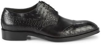 Jo Ghost Croc & Snakeskin-Embossed Leather Derbys