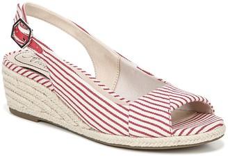 LifeStride Socialite Stripe Espadrille Sandal - Wide Width Available