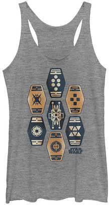 Fifth Sun Women's Tee Shirts GRAY - Star Wars Heather Gray Sabbacc Fitted Racerback Tank - Women & Juniors