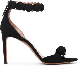 Alaia Bombe 90 black suede sandals