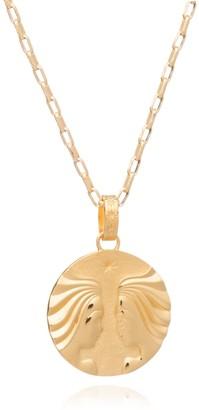 Rachel Jackson London Statement Zodiac Art Coin Gemini Long Necklace Gold