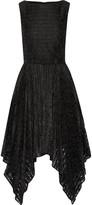 Badgley Mischka Belted lace midi dress