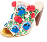 Tory Burch Ellis Embroidered Mules