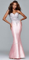 Faviana Strapless Mikado Corset Mermaid Prom Dress