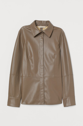 H&M Imitation leather shirt