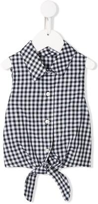 Lapin House Sleeveless Check Shirt