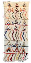 "Indigo&Lavender Vintage Azilal Moroccan Berber Rug, 3'4"" x 7'8"" feet"