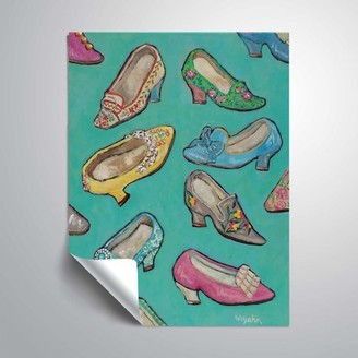 ArtWall Shoes in Queen Size, Removable Wall Art Mural by Holly Wojahn