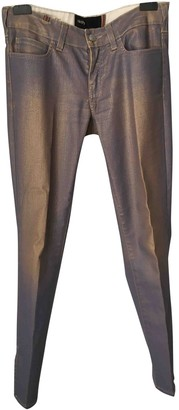 Notify Jeans Gold Cotton Trousers for Women