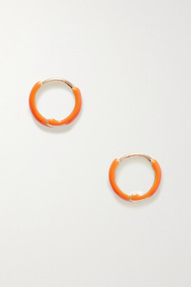 Fry Powers Unicorn Rainbow Gold And Enamel Earrings - Orange