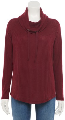 Croft & Barrow Women's Thermal Cowlneck Top