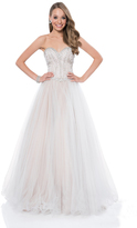 Terani Couture 1611P1240A Crystal Studded Sweetheart Ball Gown