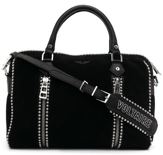 Zadig & Voltaire Suede Studded Tote Bag