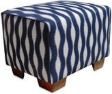 Somers Furniture HGTV 24-Inch x 18-Inch Dining Ottoman with Sunbrella® Fabric in White/Navy