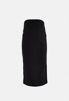 Missguided Rib Split Side Maternity Midi Skirt