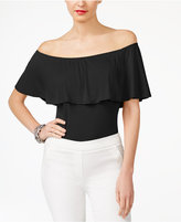 INC International Concepts Off-The-Shoulder Bodysuit, Created for Macy's