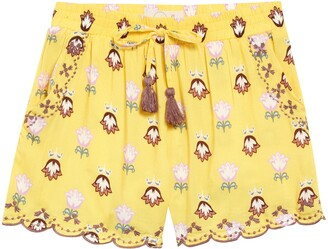 Peek Aren't You Curious Isabella Scalloped Floral Shorts