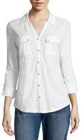 Liz Claiborne Long-Sleeve Button-Front Shirt
