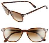 Persol Men's 53Mm Square Keyhole Sunglasses - Dark Tortoise