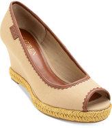 Lauren Ralph Lauren Nella Platform Wedge Peep-Toe Sandals