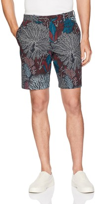 Perry Ellis Men's Coral Print Stretch Short