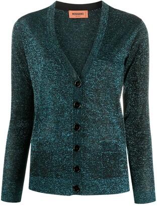 Missoni Metallic-Thread Knit Cardigan